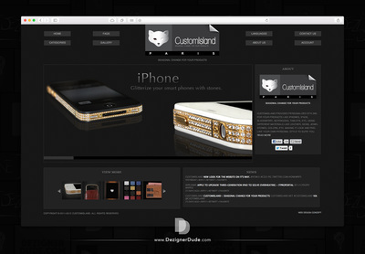 Customisland responsive website