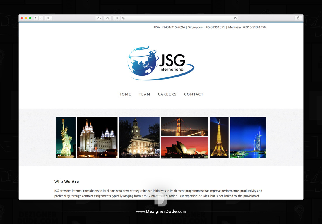 JSG International Website