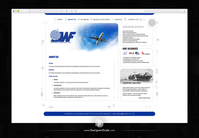 World Freight Web design