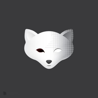 Custom Island winter fox logo