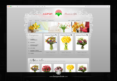 Alton Flower shop website design