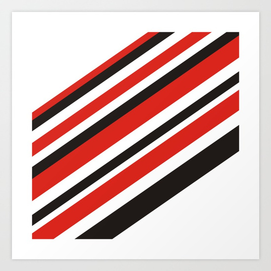 Premium Art Print for Red and Black Lines