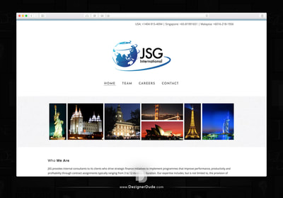 JSG International website design and development