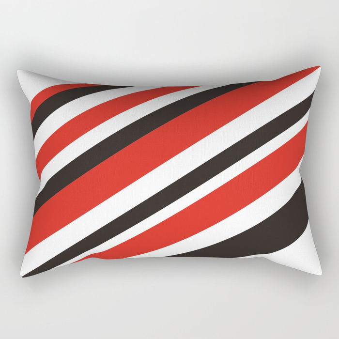 Red and Black is Rad on rectangle pillow