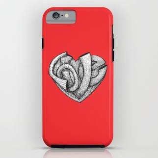 Tattoo Love iPhone Case by DezignerDude