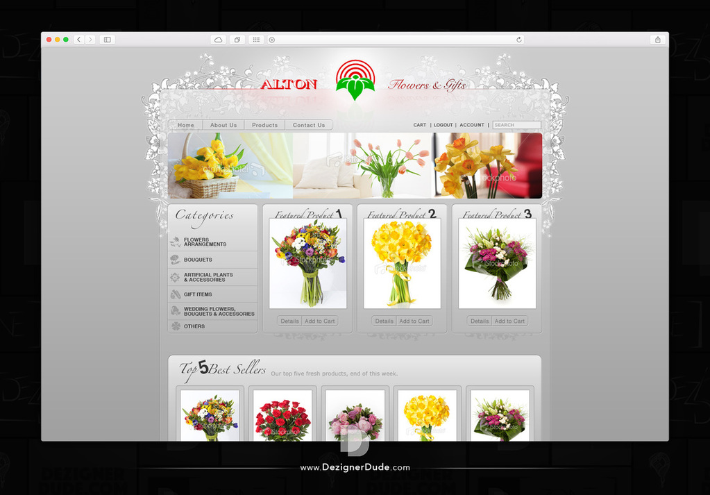 Alton Flowers & Gifts Website Design