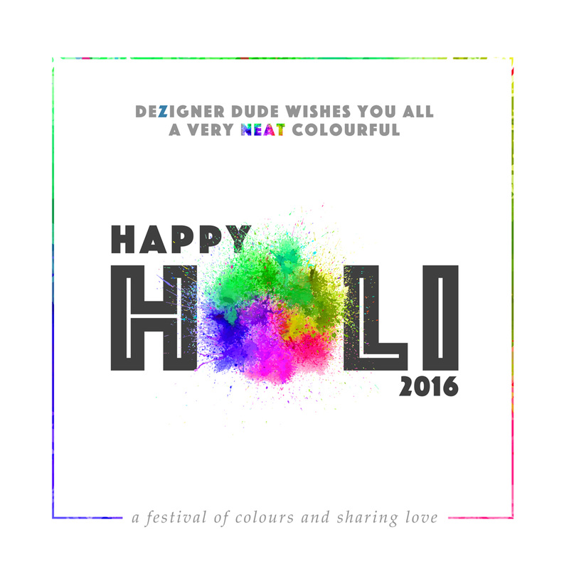 Happy Holi 2016 Wishes by DezignerDude.com