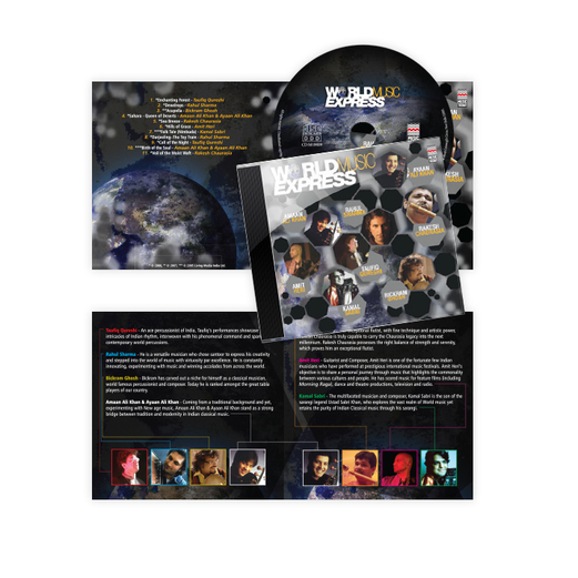 World Music Express Music Album Design