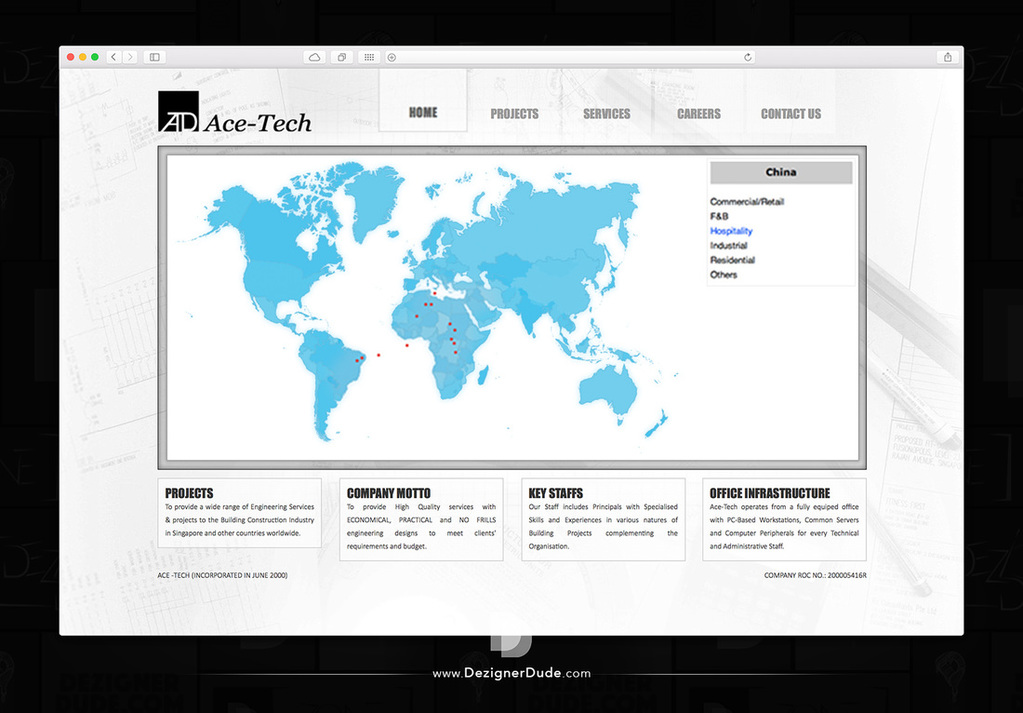 Ace-Tech Website design