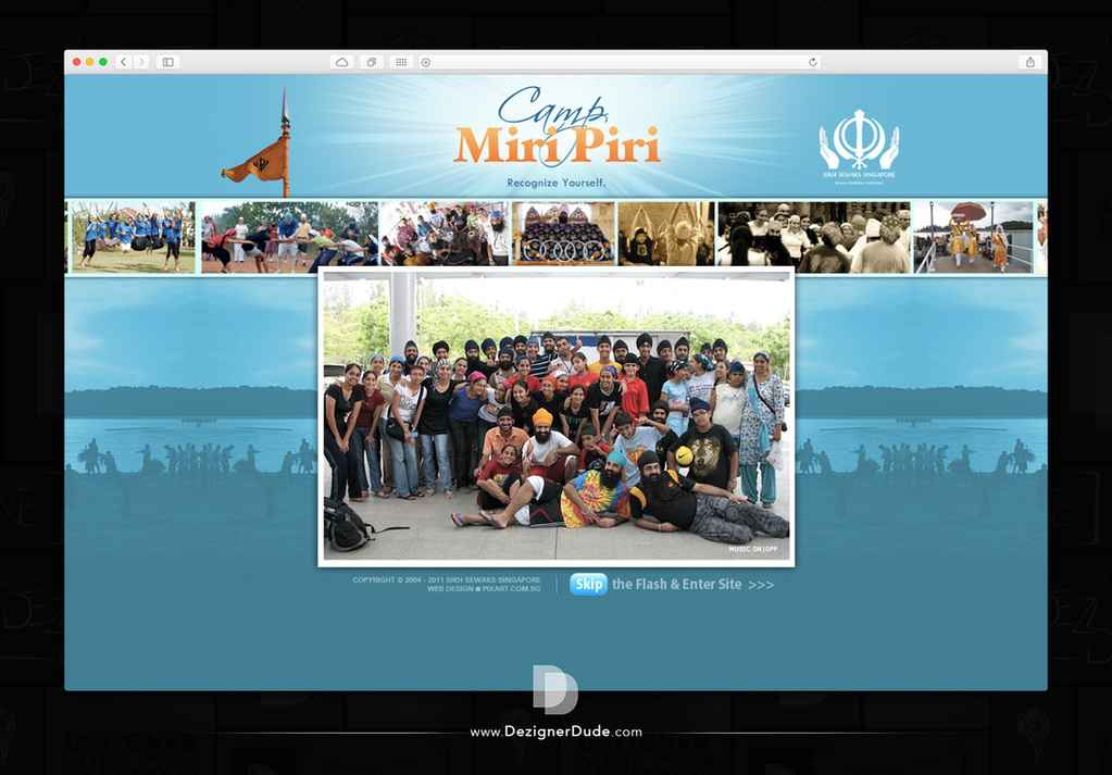 Camp Miri Piri Web Design