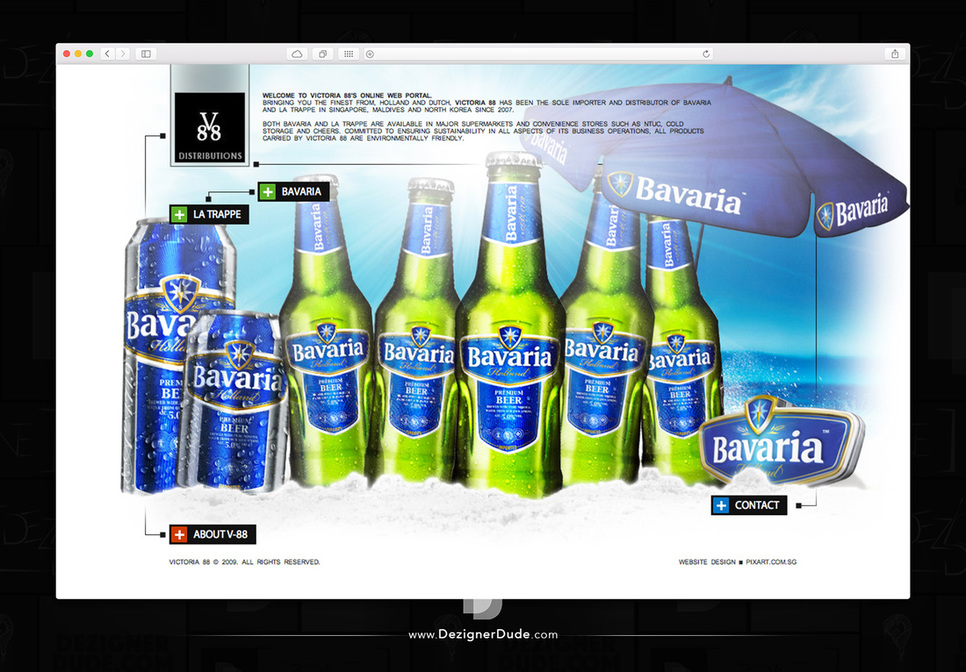Victoria 88 Website Design