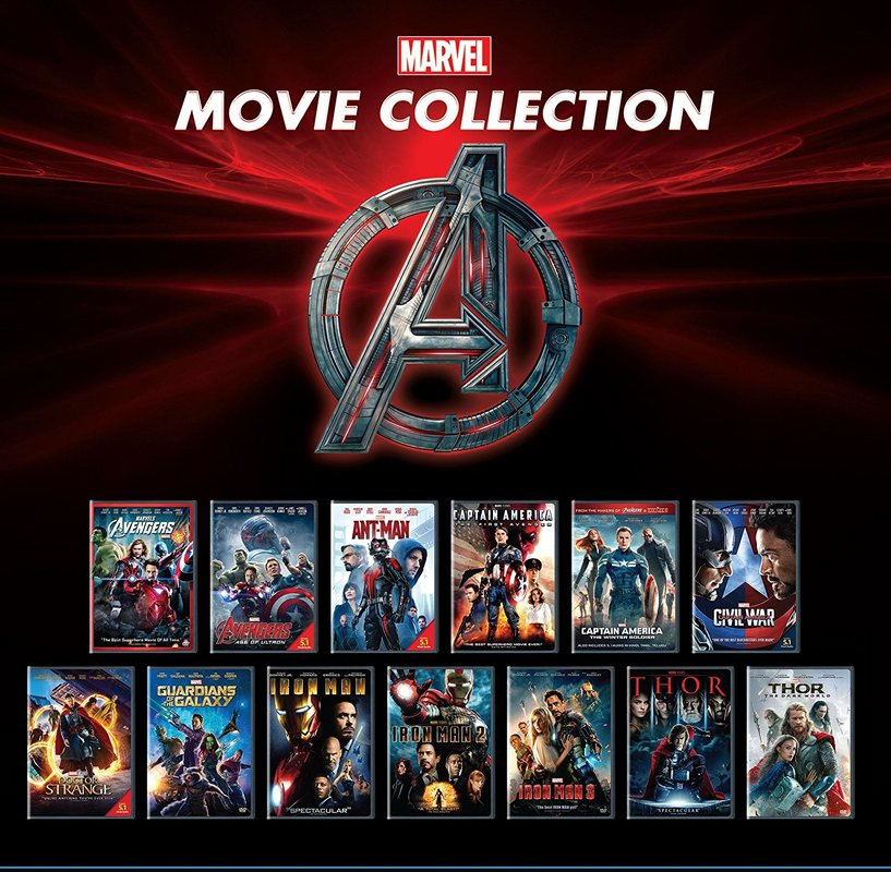 marvel bluray collection pack