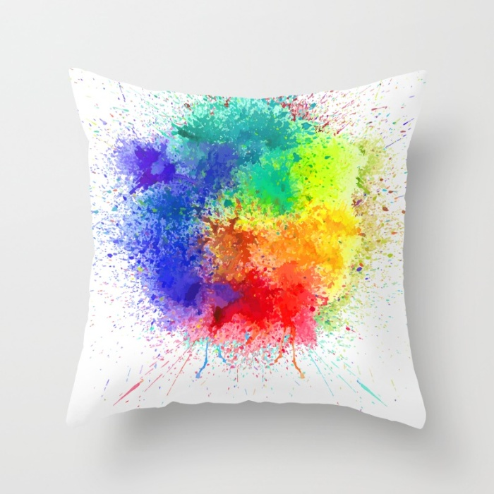 Holi Throw Square Pillows