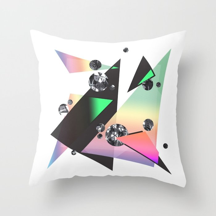 Multicolor Orgasm Throw Pillow by DezignerDude