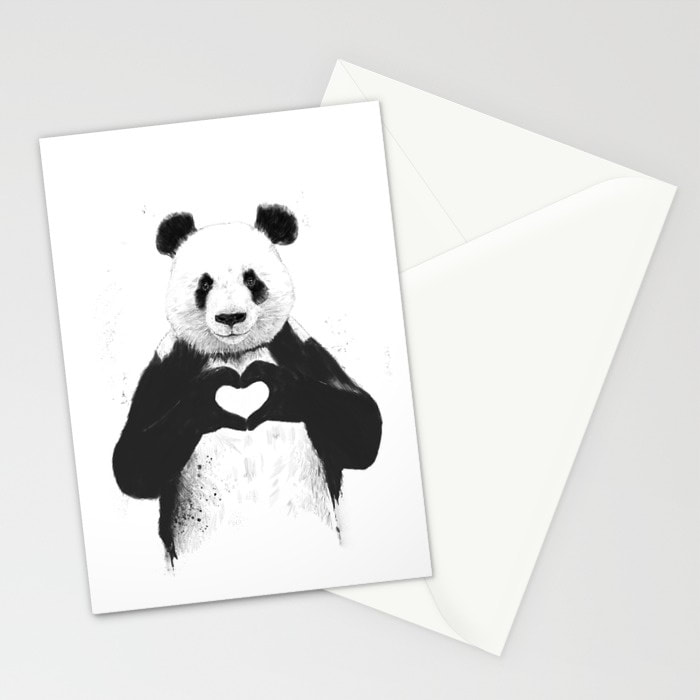All you need is Love, A Panda's Love! Card