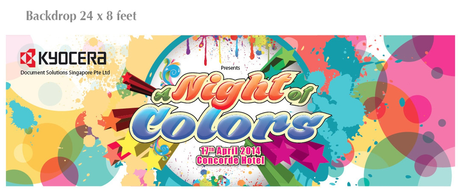 Kyocera Event Backdrop Design for Night of Colors