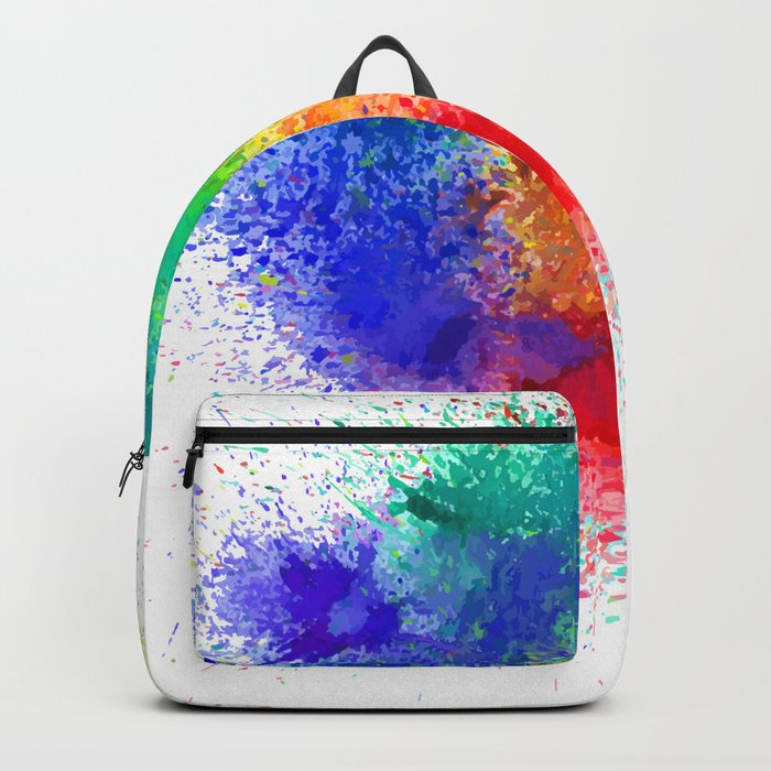 Bag with holi colors