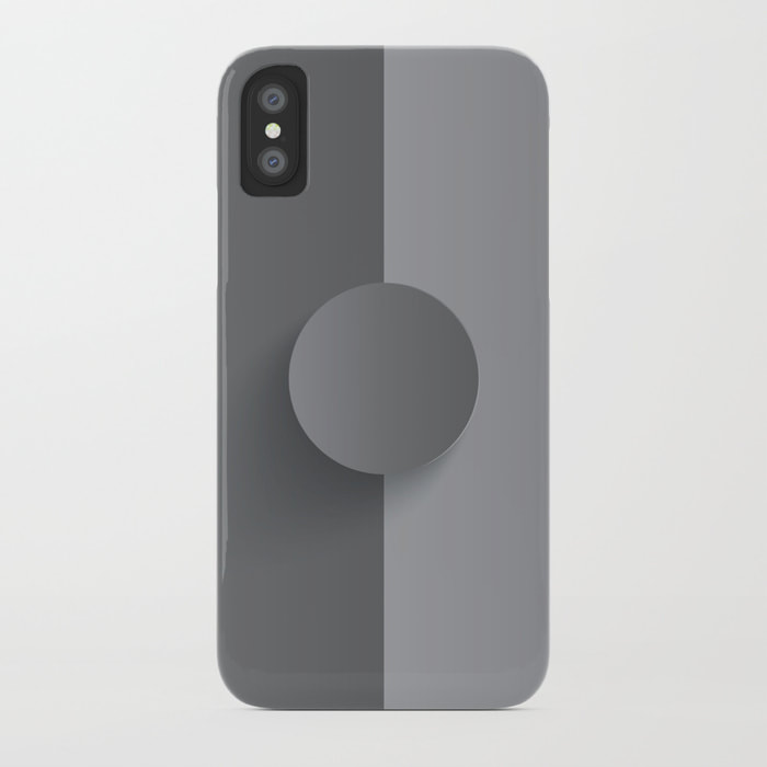 Gunsmoke Osio Grey iPhone Case by Dezigner Dude
