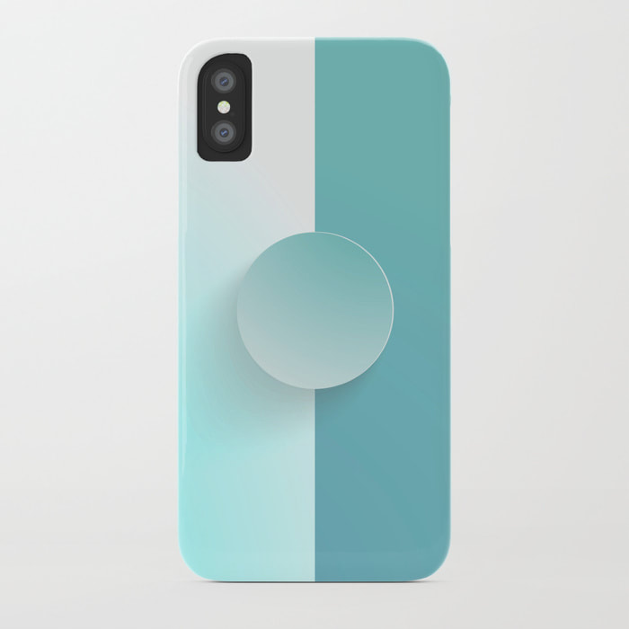Light MoonStone Blue iPhone Case by Dezigner Dude