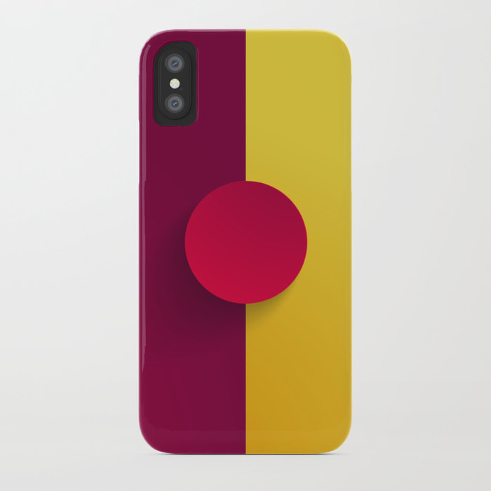 Maroon Festival iPhone Case by Dezigner Dude