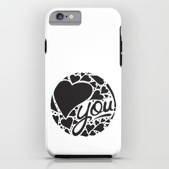 Love You iPhone Case by DezignerDude