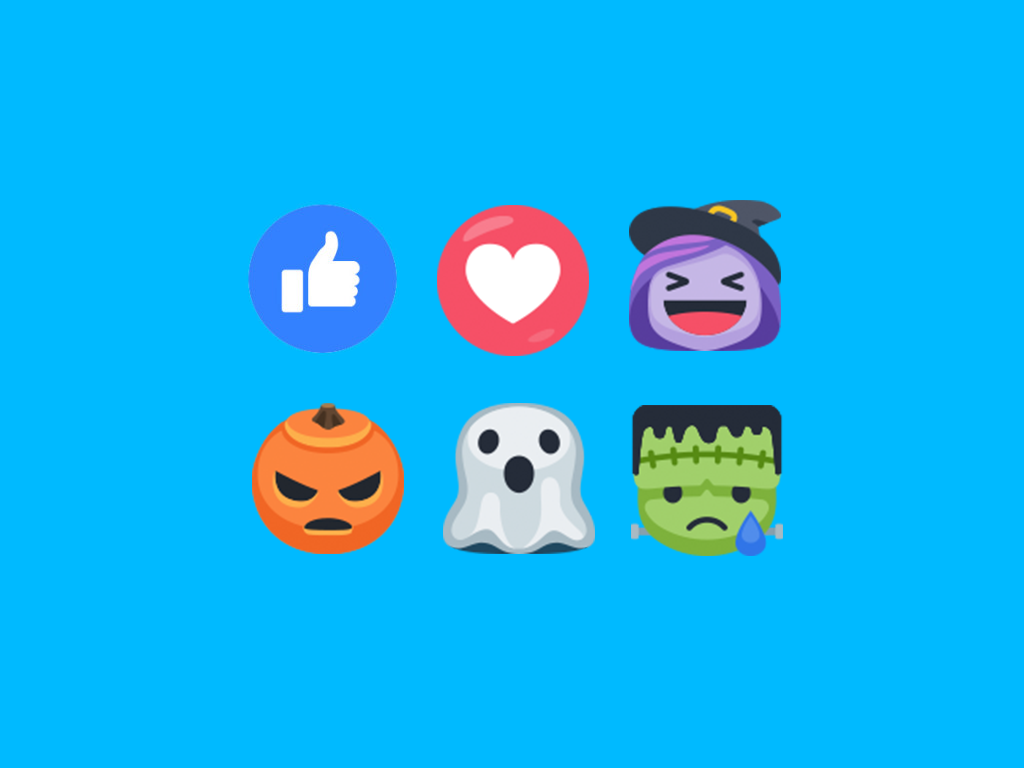 Facebook Reactions for Halloween 2016 Set