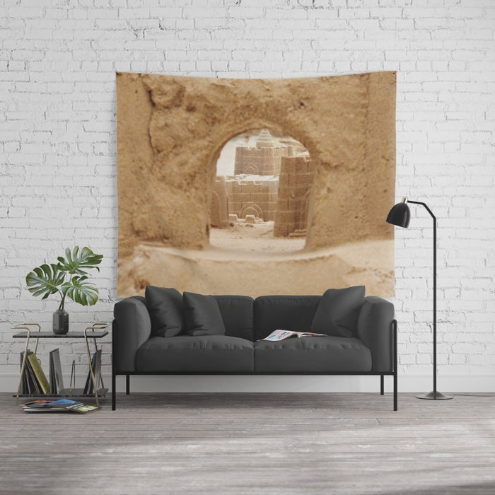 Sand Castle Wall Tapestry