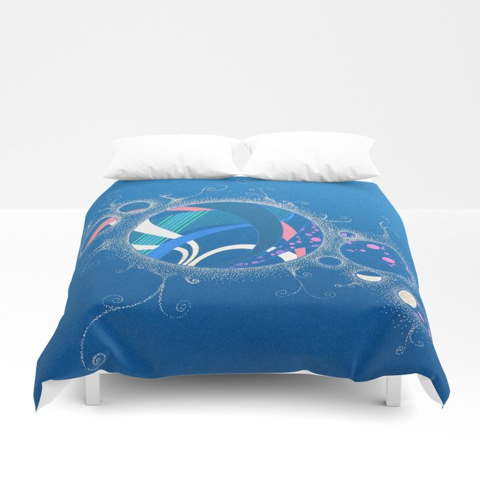 SuperNova In Bubbles Duvet Cover